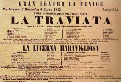 la traviata, manifesto della prima