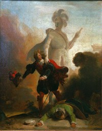 Fragonard, Don Giovanni e la statua del commendatore