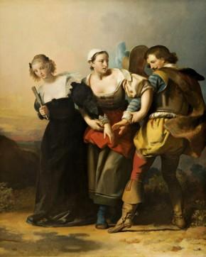 Alexandre Evariste Fragonard, Don Giovanni, Zerlina e Donna Elvira