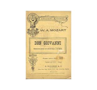 libretto dell'opera 'Don Giovanni', di Mozart e Da Ponte