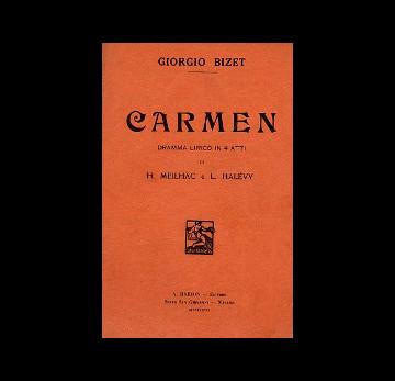 libretto d'opera della carmen di bizet