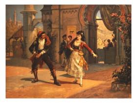 litografia-scena dell'opera-carmen