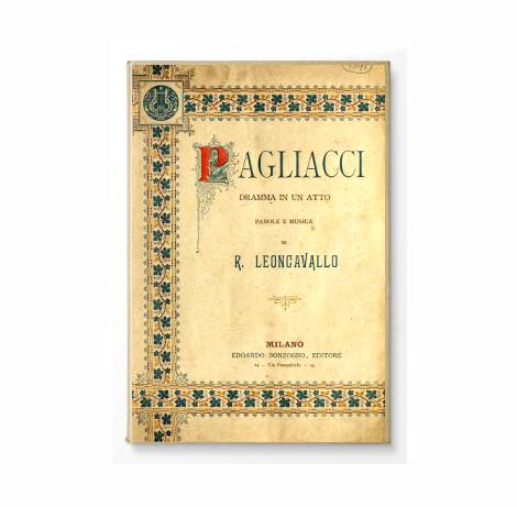 libretto dell'opera 'Pagliacci' di ruggero leoncavallo